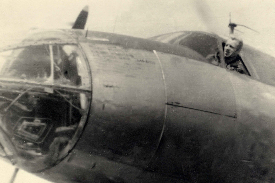 The B-26 bomber flown by James Avery during World War II